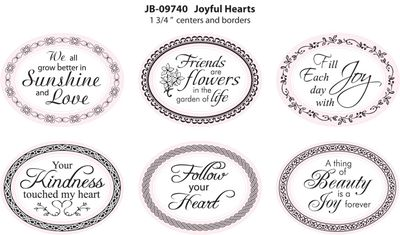 Joyful Hearts 1-34 Oval JB09740