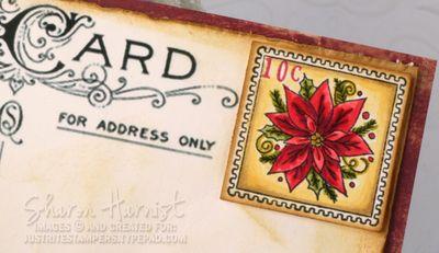 PostcardSnowladyPostageSH