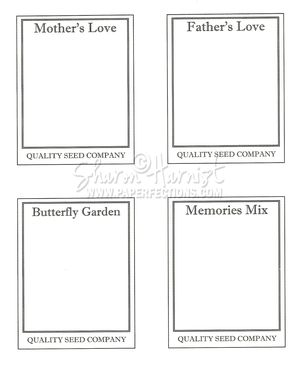 Paperfections video tutorials downloads for Blank seed packet template