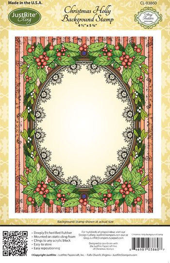 Christmas_Holly_Background CL03860